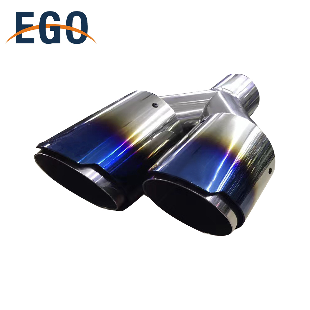 high quality dual outlet car black painted powder coated auto exhaust tips buy dual outlet car exhaust tip black exhaust tip auto exhaust tips