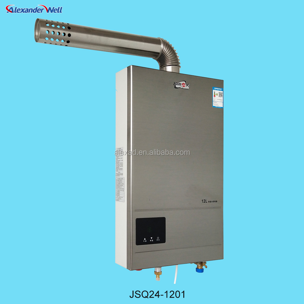 alexander 12l hot water forced exhaust gas water heater buy tankless water heater water heater forced gas water heater product on alibaba com