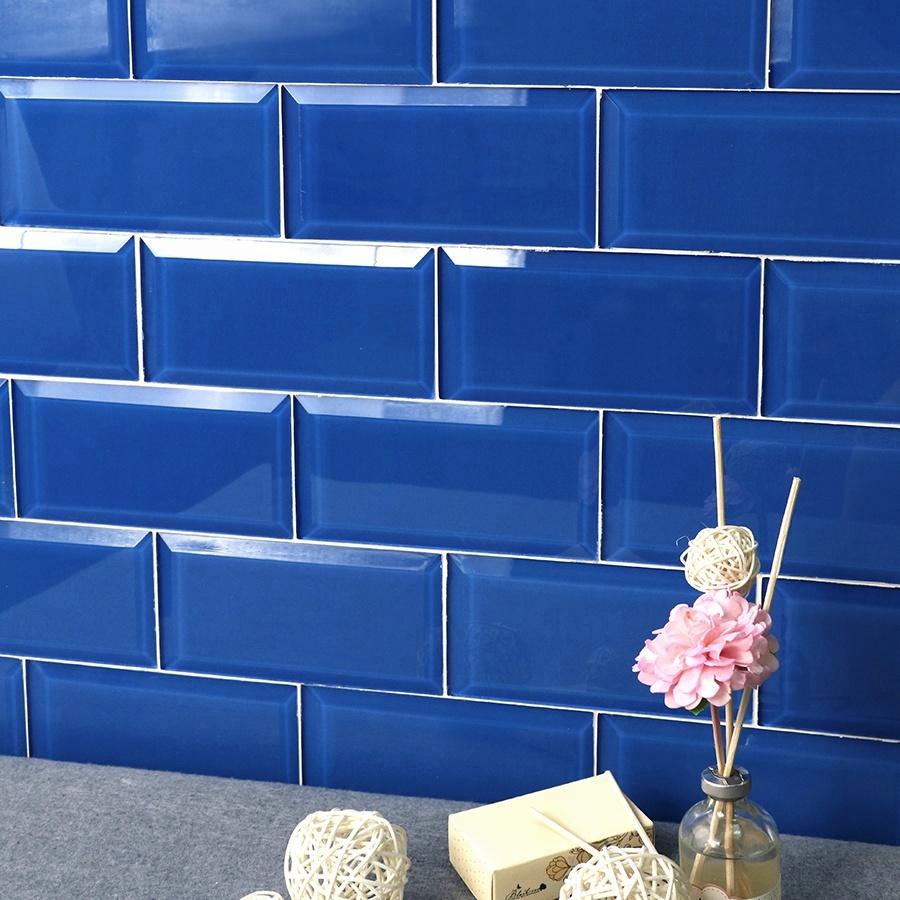 mm mosaic beveled glass subway tile blue for shower kitchen backsplash buy subway tile blue subway tile shower subway tile kitchen backsplash