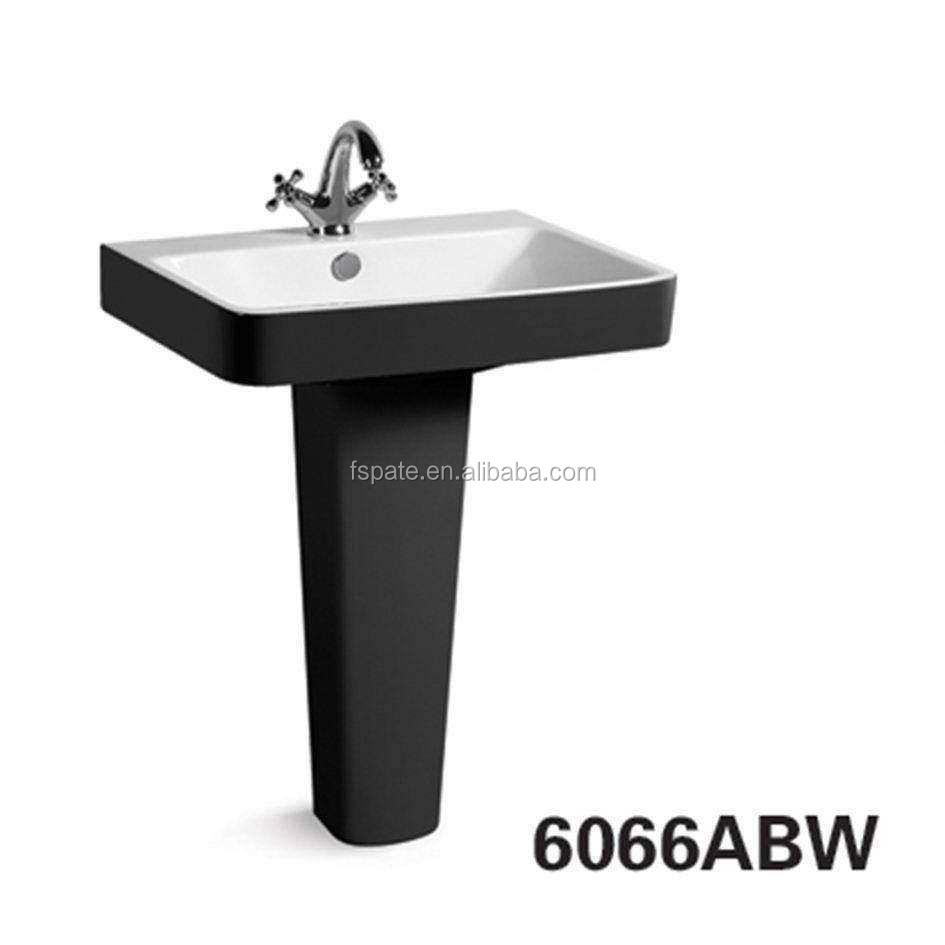 bathroom wash basin porcelain floor standing black full pedestal sink buy black full pedestal sink black bathroom basin pedestal basin product on