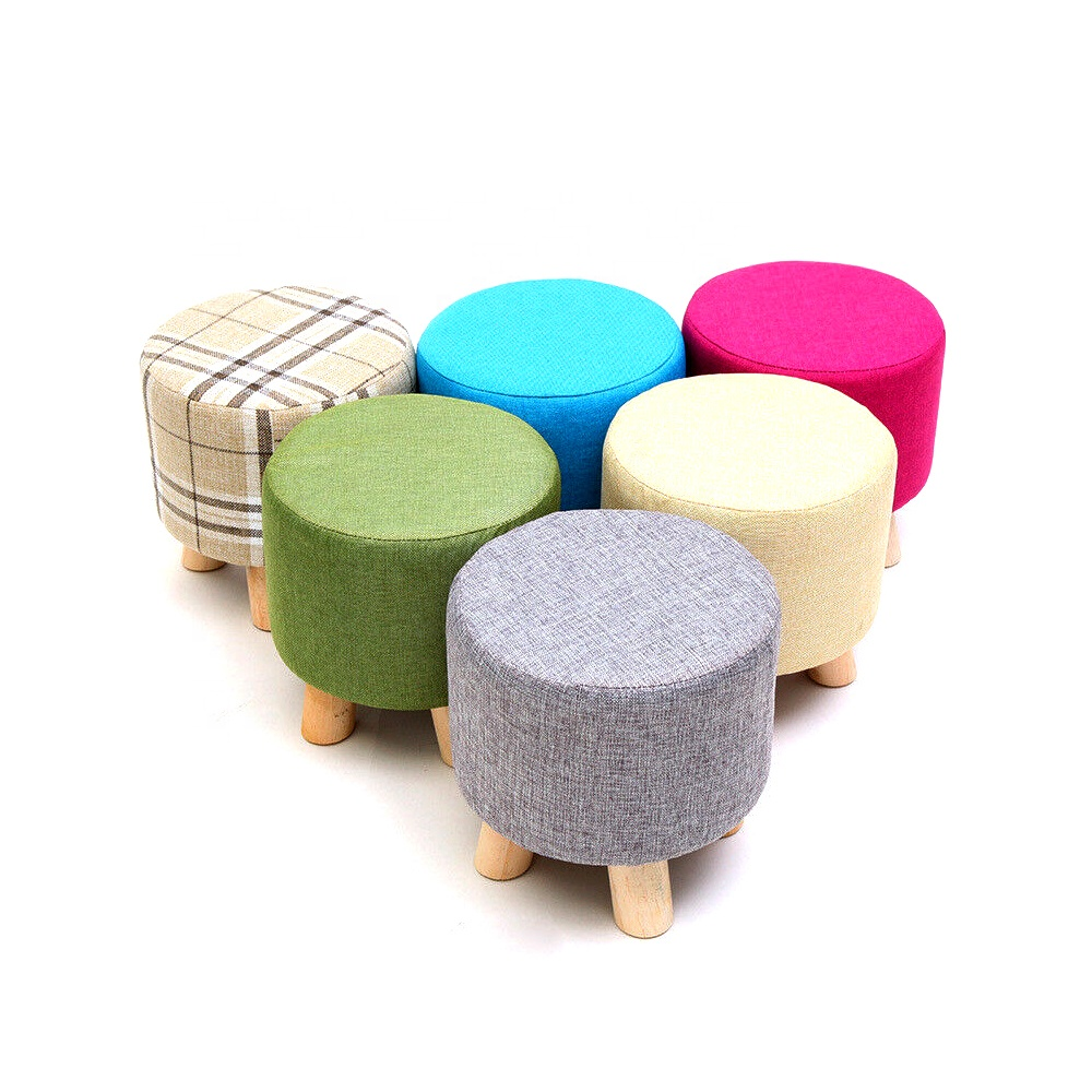 round ottoman stool small wooden soft rest chair quadruped pouffe footstool seat buy round wooden chair seat footstool seat round small product on
