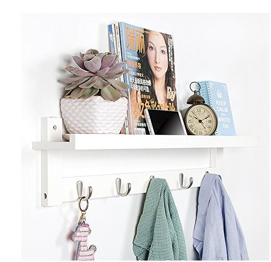 wooden hooks for wall coat rack shelf wall mounted bamboo hook rack with upper shelf for storage scandinavian style for hallway buy wrought iron