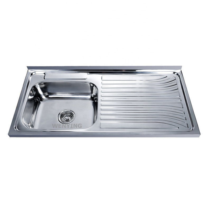 above counter layon or inset edge single bowl with drainboard stainless steel sink 10050a buy stainless steel sink single bowl kitchen sinks with