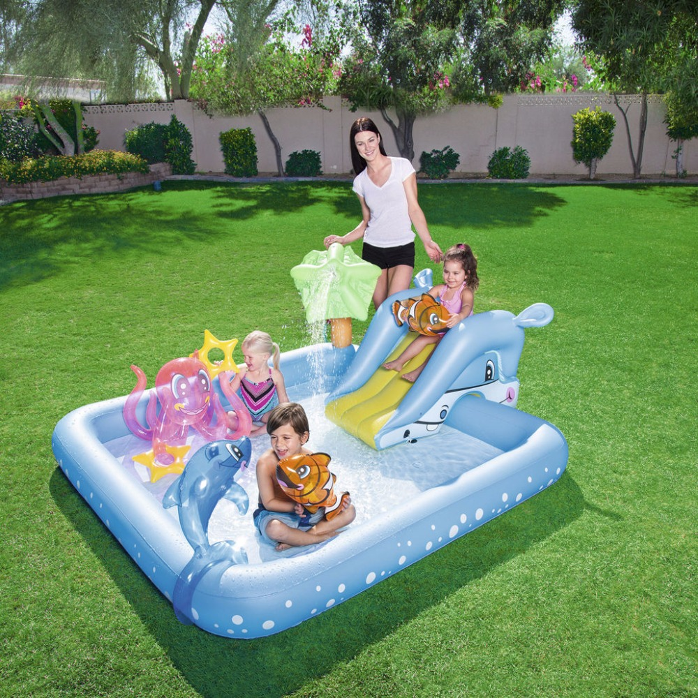 bestway piscine gonflable et d exterieur aquarium fantastique buy pool slider kids outdoor toys swim play pool product on alibaba com
