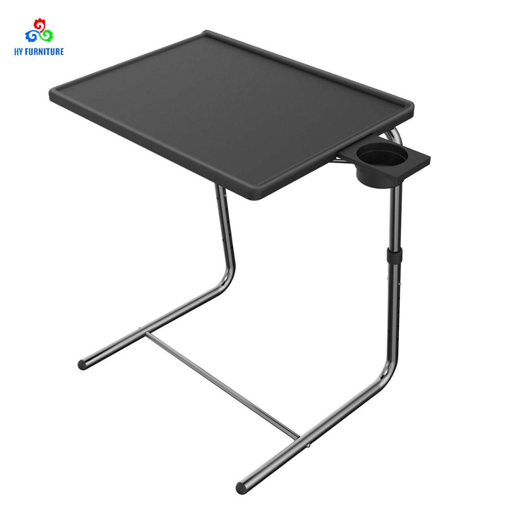 adjustable tv tray table tv dinner tray on bed sofa comfortable folding table with 5 height 3 tilt angle adjustments buy adjustable folding