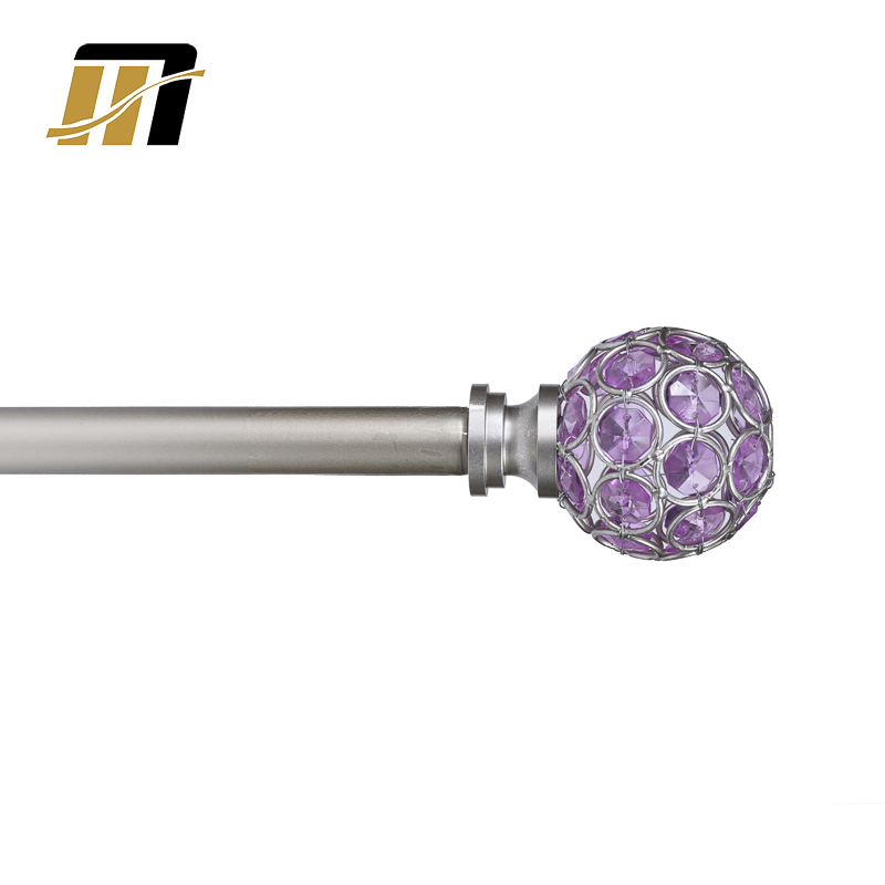 hot sale crystal steel curtain rod set crystal finial buy crytstal finial metal finial crystal glass finials for curtain rods product on