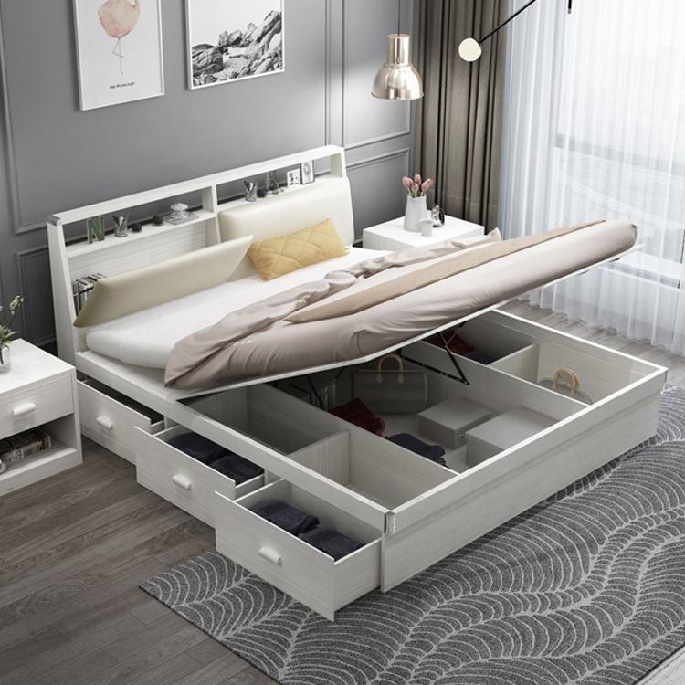 meuble double en contreplaque blanc massif meuble de rangement design moderne offre speciale buy lit avec rangement mobilier de lit lit
