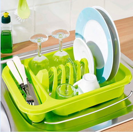 haixing 2020 best sale plastic kitchen dish rack for drying with cutlery tray 8808 buy plastic dish drainer rack plastic drying rack eco friendly
