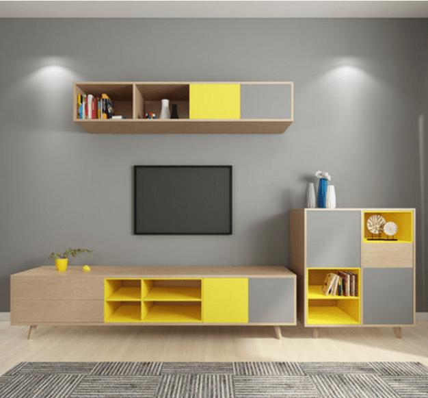 meuble tv en bois au design moderne 1 piece support pour salon et maison vitrine tv buy meubles de maison de salon meuble de television en
