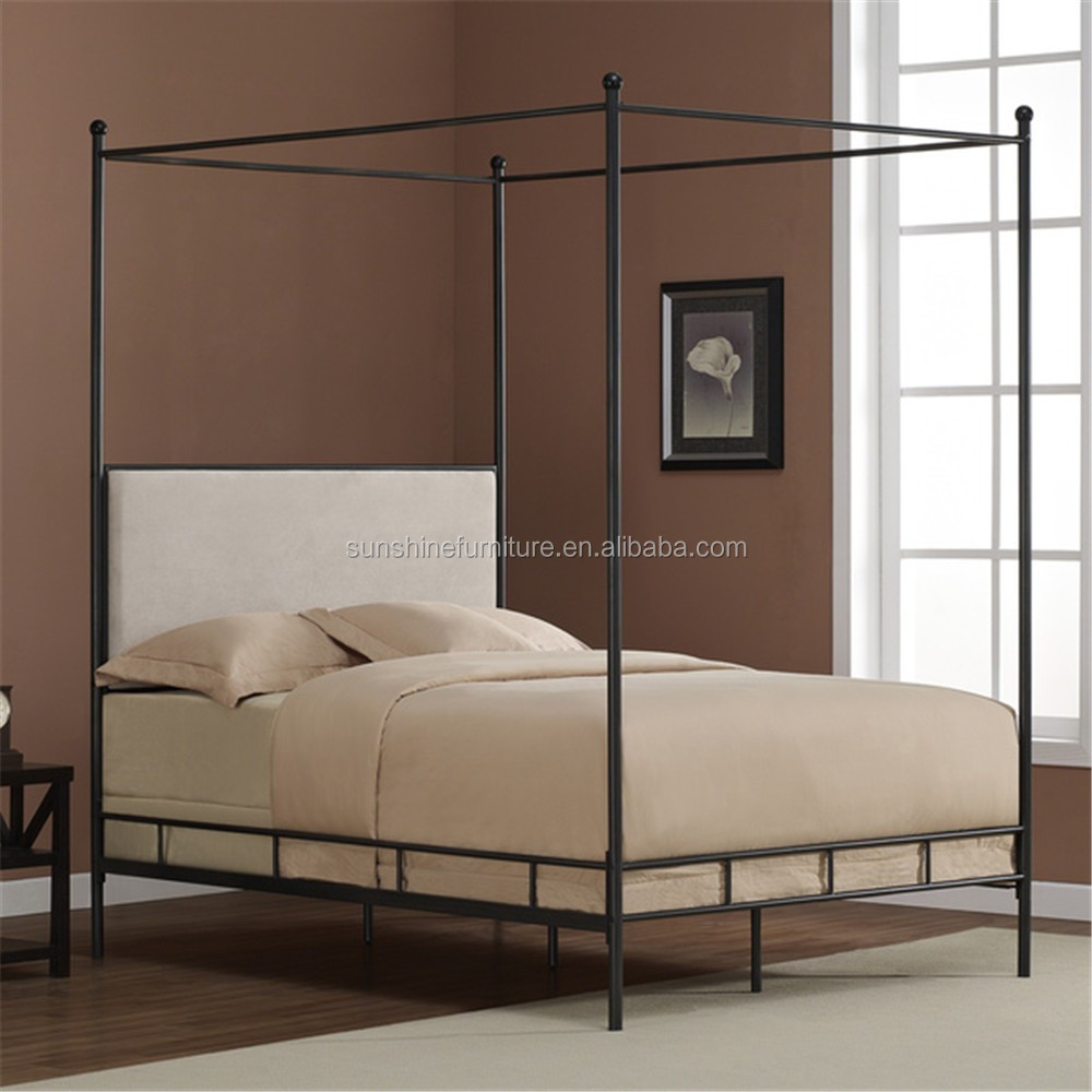 chinese modern kids adult meral iron garden four poster canopy bed view canopy bed sunshine product details from shouguang sunshine