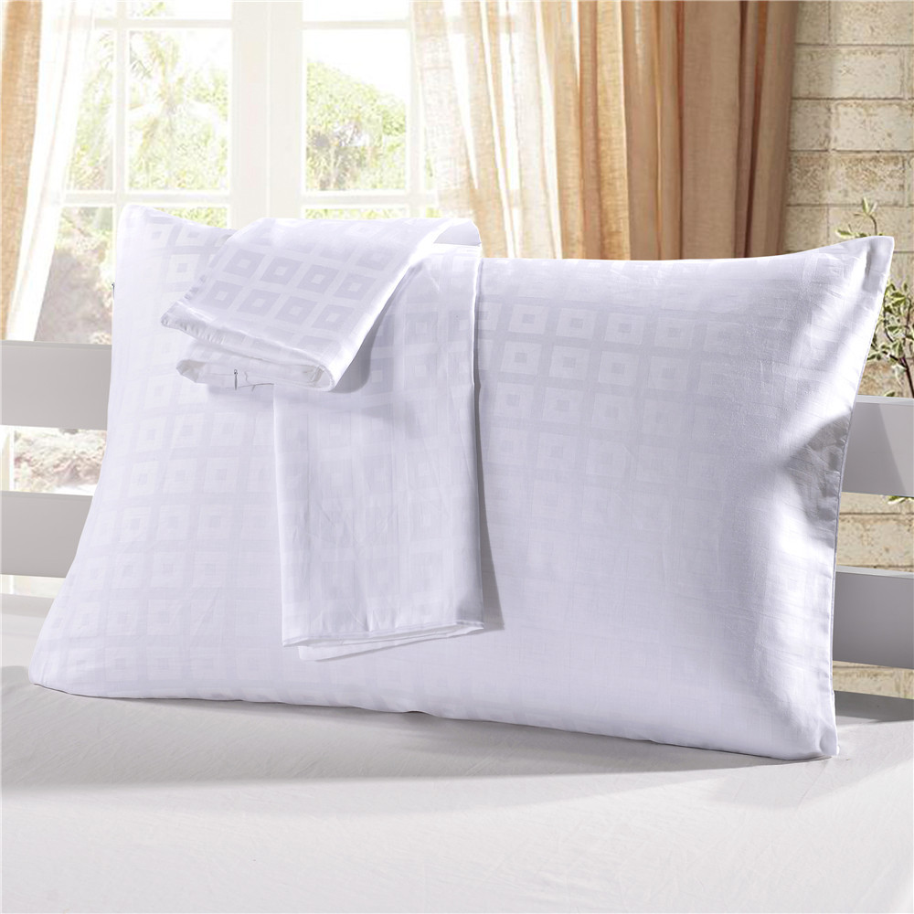 wholesale 100 cotton white jacquard design standard queen king size bed pillow case cover with zipper buy cotton pillow case white white pillow case white pillow cases cotton product on alibaba com