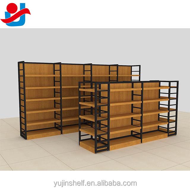 etagere en bois en metal et bois presentoir de meubles pour supermarche vente en gros et en detail buy etagere en bois de supermarche etagere de