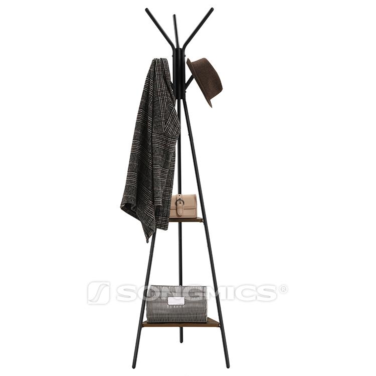 vintage rustic portable modern wooden mdf free standing tree shaped coat rack with shelves for hotel bedroom bathroom buy wooden coat racks free