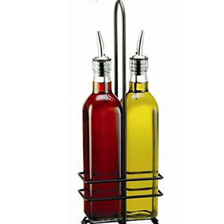distributeur d huile et de vinaigre support en acier inoxydable rangement de 2 bouteilles buy distributeur d huile d olive distributeur d huile et