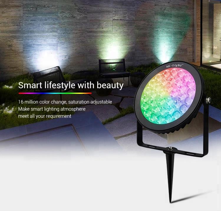 milight futlight outdoor multi color ip65 rgb cct wifi control led spotlight garden pin spot landscape light with remote buy multi color landscape