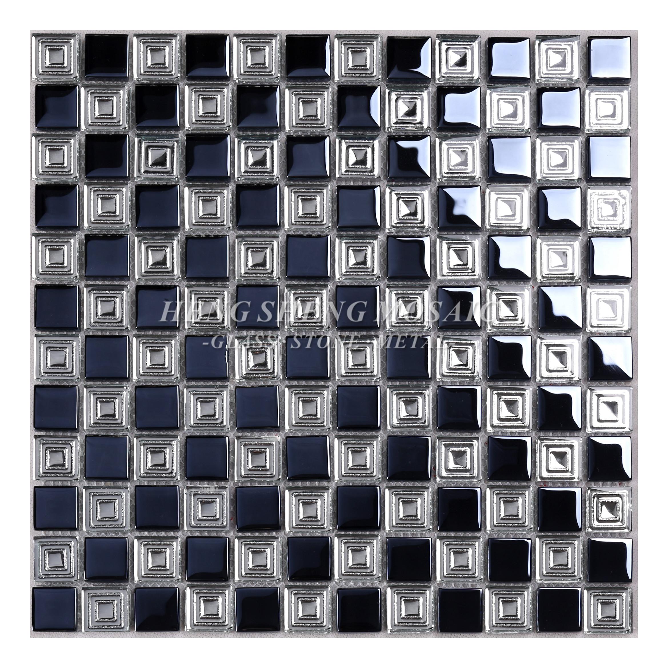 hot sale tempered philippines black glass mosaic kitchen backsplash tile view glass backsplash tile heng sheng product details from foshan hengsheng