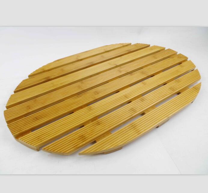 en bois caillebotis ovale en bambou salle de bain tapis de sol buy tapis de sol en bambou douche antiderapante tapis de bain en diatomite product on