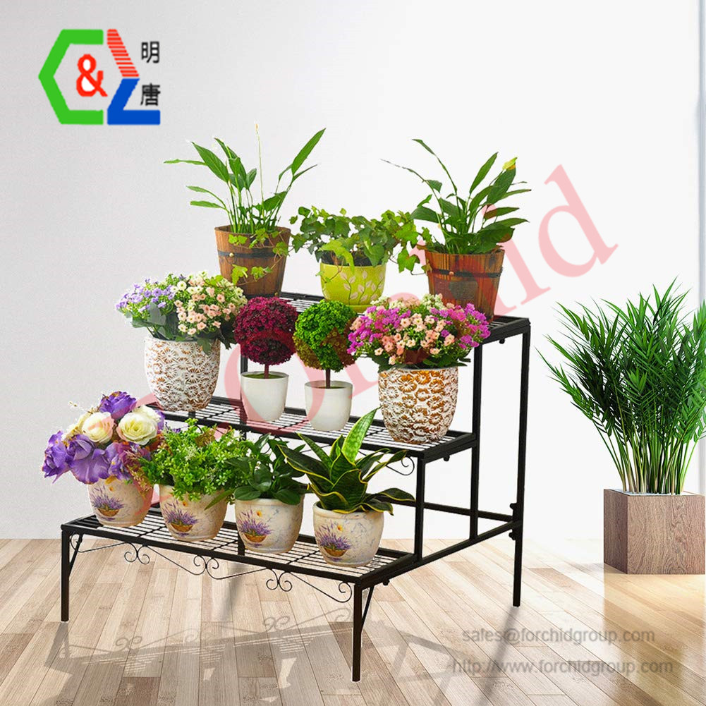plant stand 3 tier stair style metal plant holder patio iron plant rack step design garden shelf for large flower pot display ra buy iron flower pot