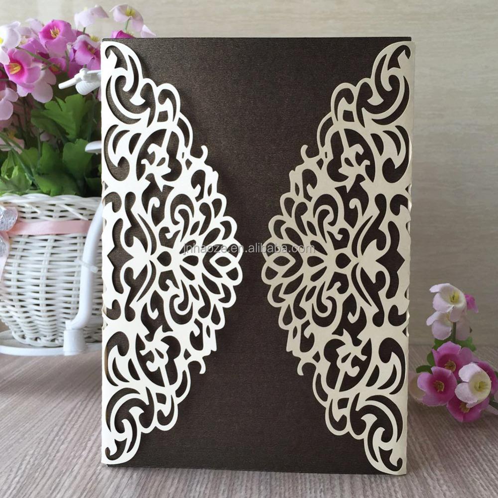 laser cut flower design 18th birthday invitation card wedding invitation card qj 57 buy laser cut wedding card 18 th birthday card flower invitation