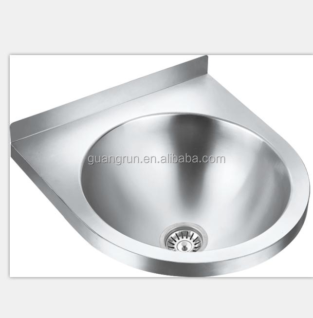 evier de cuisine mural rond en acier inoxydable lavabo pour la main gr 526b buy evier de coin en acier inoxydable evier de lavage de main