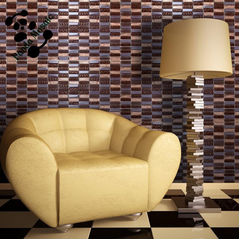 mb smp16 salon moderne dosseret carrelage design en verre brun carrelage mural rectangulaire mosaique buy tuile de mosaique rectangulaire tuile de