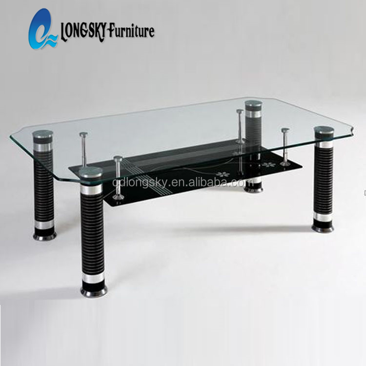 ls 1010 glass top center table design
