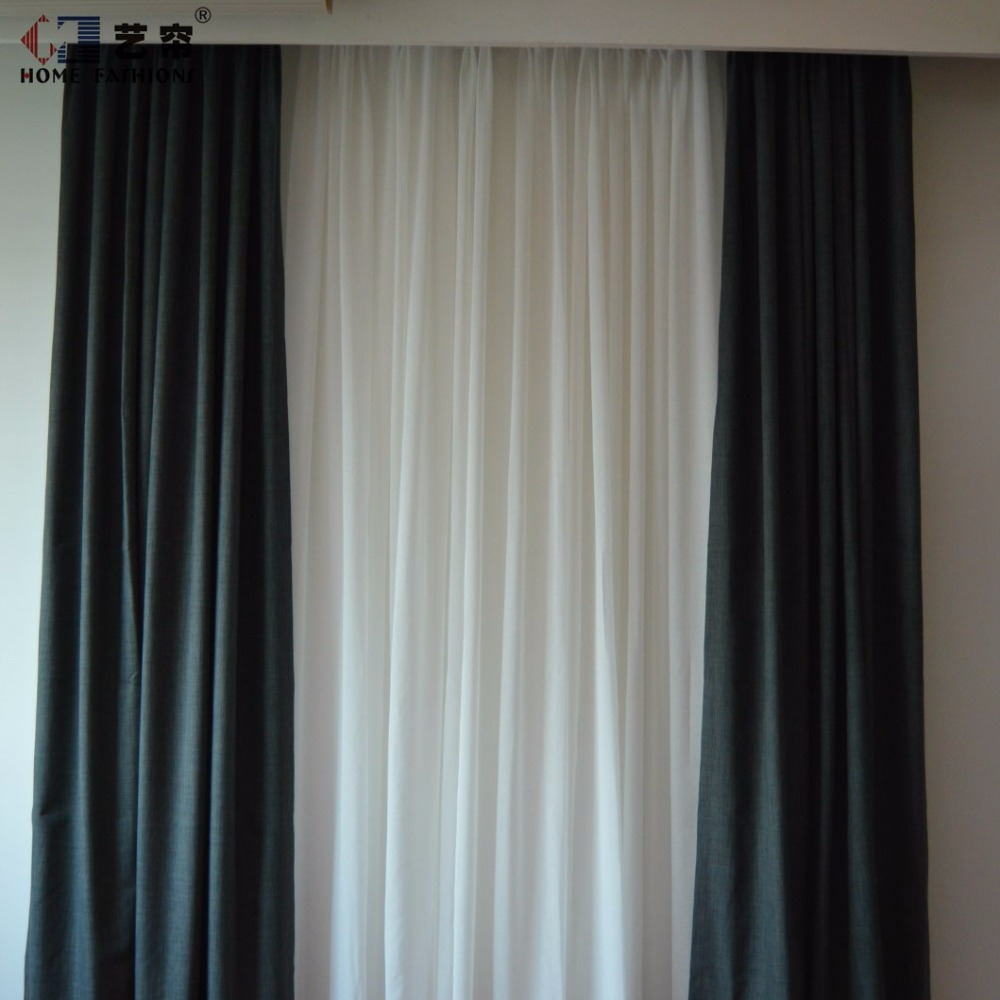 simple design blackout fabric curtains modern living room curtain solid color drape window curtains from china buy high quality blackout curtains