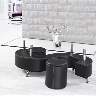 coffee table with 2 little stools with pvc end living room furniture buy badroom furniture coffee table coffee table with 2 pvc stools product on