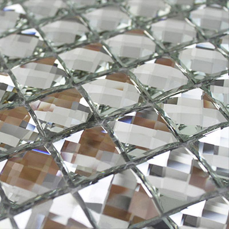 silver mirror faceted glass mosaic tile crystal diamond mosaic tile 3 4 inch 22 sheets box buy faceted glass tile faceted glass tile silver faceted glass tile product on alibaba com