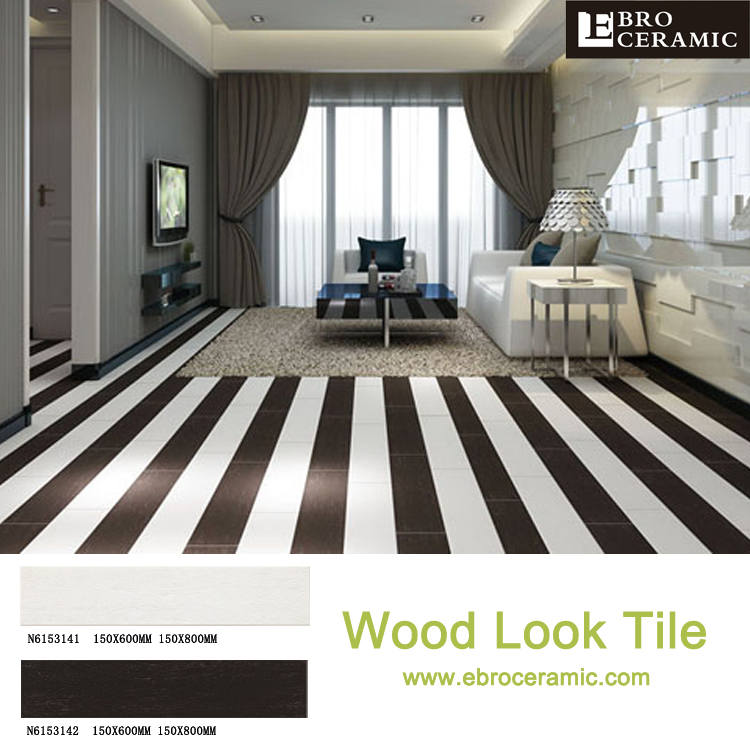 factory supply 6x24 6x32 6x36 pure black wood design ceramic floor tile with vitrified matte finish in foshan n8153142 buy wood design ceramic floor