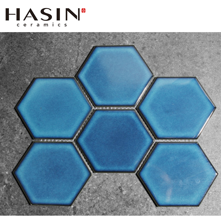 hasin hexagon wall tiles from china green or blue ceramic coffee house hexagonal wall tiles buy green hexagon brick tile blue color hexagon