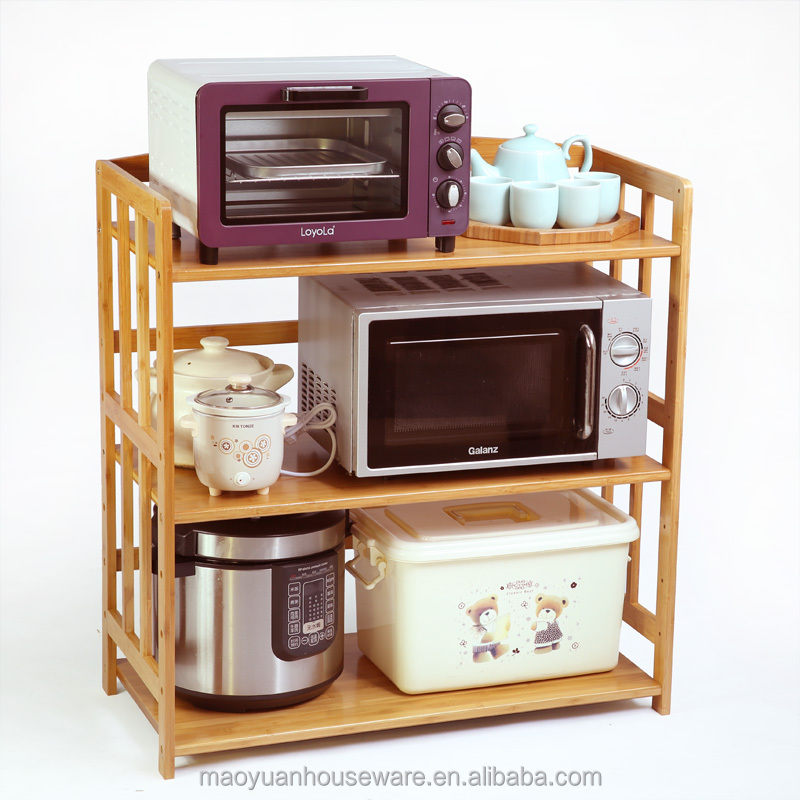 kitchen shelving wooden bamboo microwave oven stand buy microwave oven stand wooden microwave stand bamboo microwave stand product on alibaba com