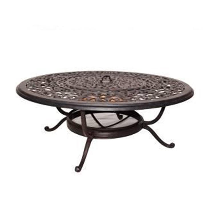 garden cast aluminum fire pit table round outdoor patio dining table buy cast aluminum table cast aluminum patio table cast aluminum fire pit table