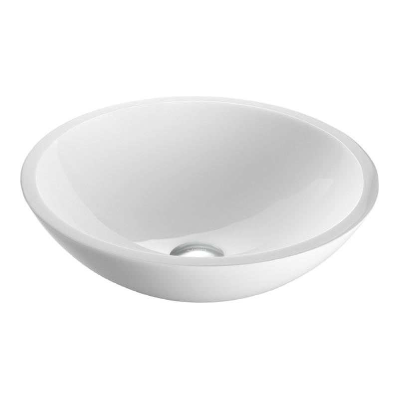 white cream color bathroom round glass vessel sink bowl 12 16 inch buy white cream color bathroom round glass vessel sink bowl 12 16 inch white