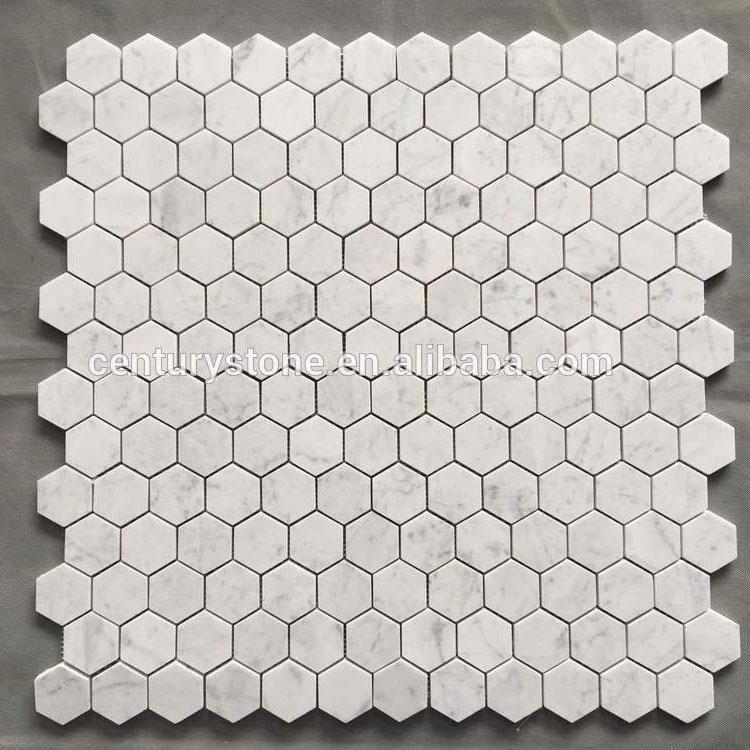 stocked 48mm carrara hexagon marble mosaic tile buy hexagon tile carrara marble hexagon tile hexagon price tile product on alibaba com
