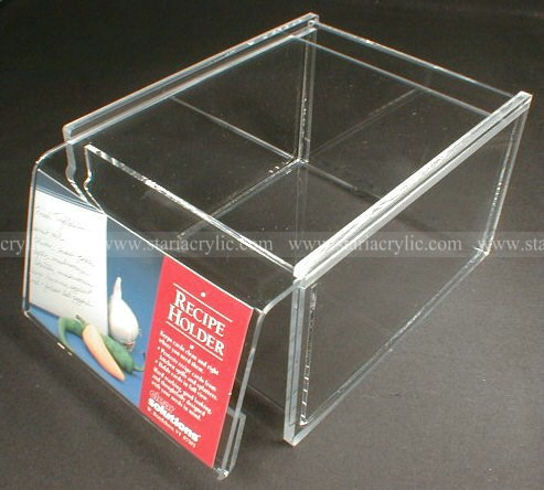 poster insert acrylic recipe book storage box sliding lid clear box with sign holder acrylic book display case buy acrylic recipe book storage