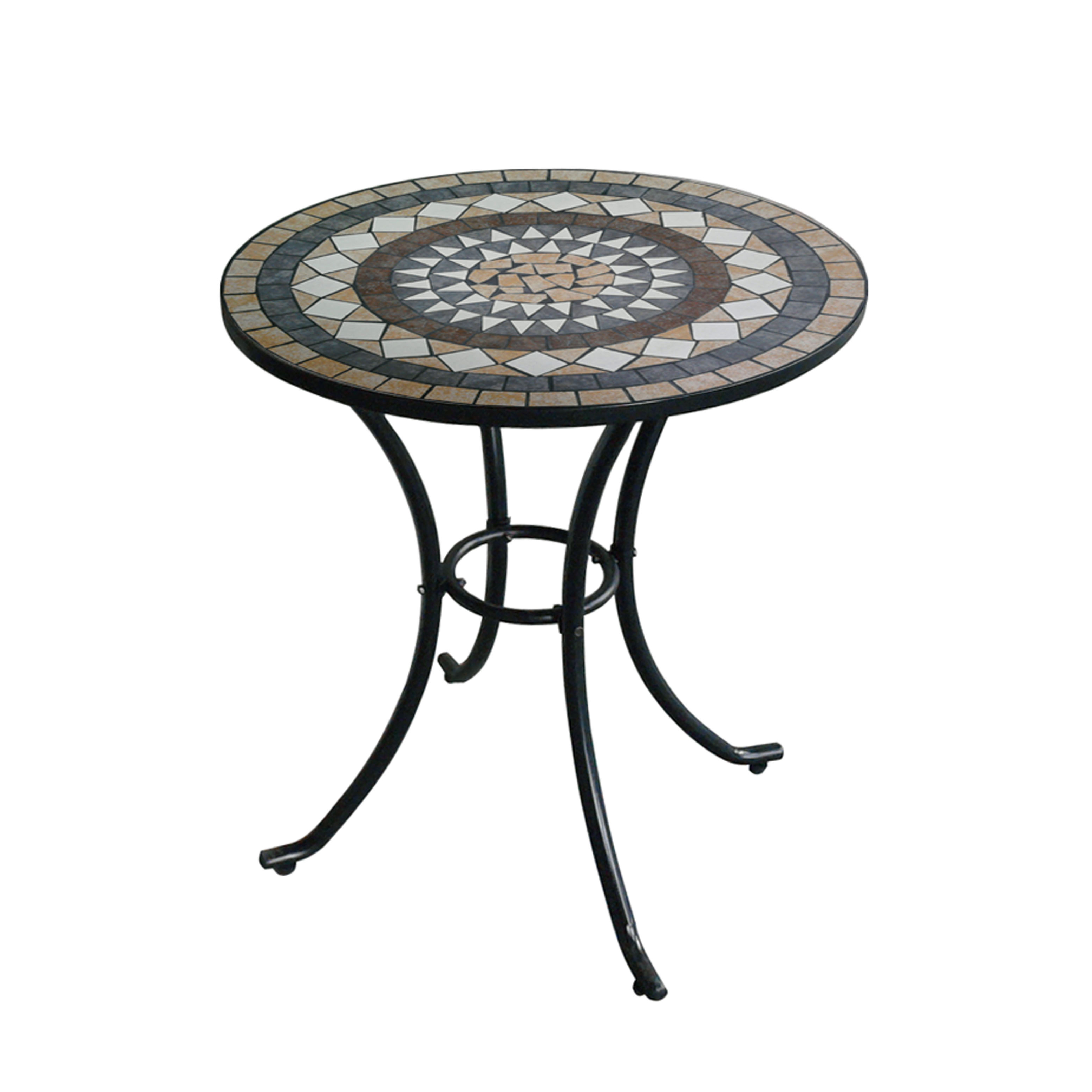 dia 60cm metal round mosaic top side table buy ceramic tile outdoor table round top table outdoor furniture round table product on alibaba com