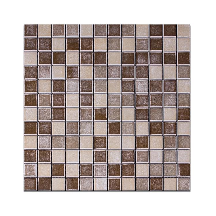 foshan 30 30cm idea brown glass mosaic art tiles ceramic tile that looks like chocolate buy glass mosaic art tiles ceramic tile brown glass mosaic