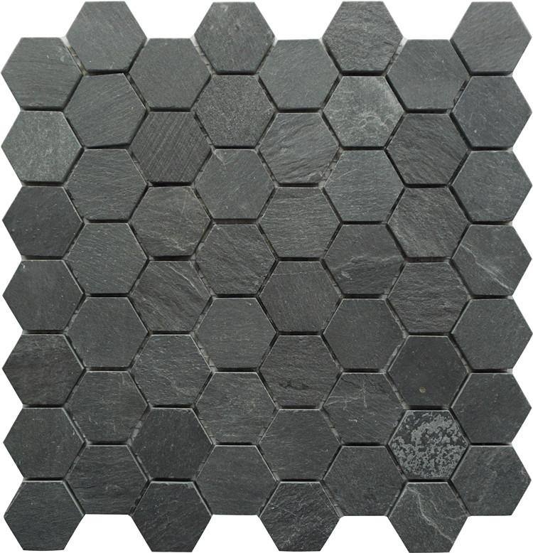 honeycomb hexagon shaped mosaic marble material black tiles slate buy black tiles black marble tiles hexagon slate tiles product on alibaba com