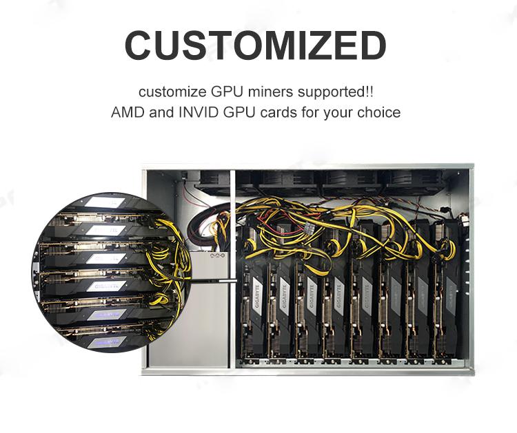 2021 AMD Radeon RX 5700 Xt 8GB Graphics card Miner 8 GPU Mining Rig with 420MHash ETH Mining machine