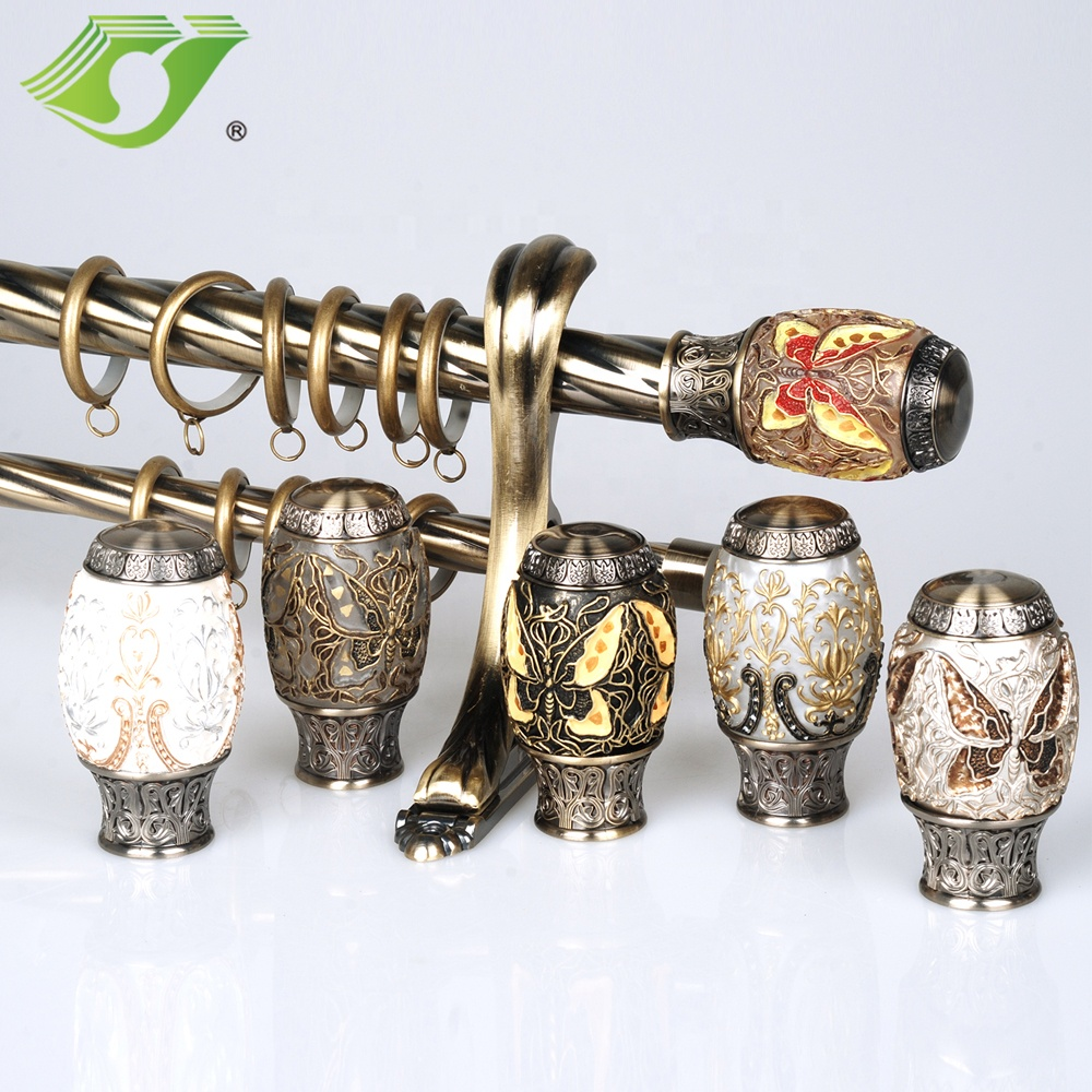 jns curtain rod curtain poles curtain accessories tracks accessories with resin finial luxury decorative double length 6m buy acrylic curtain