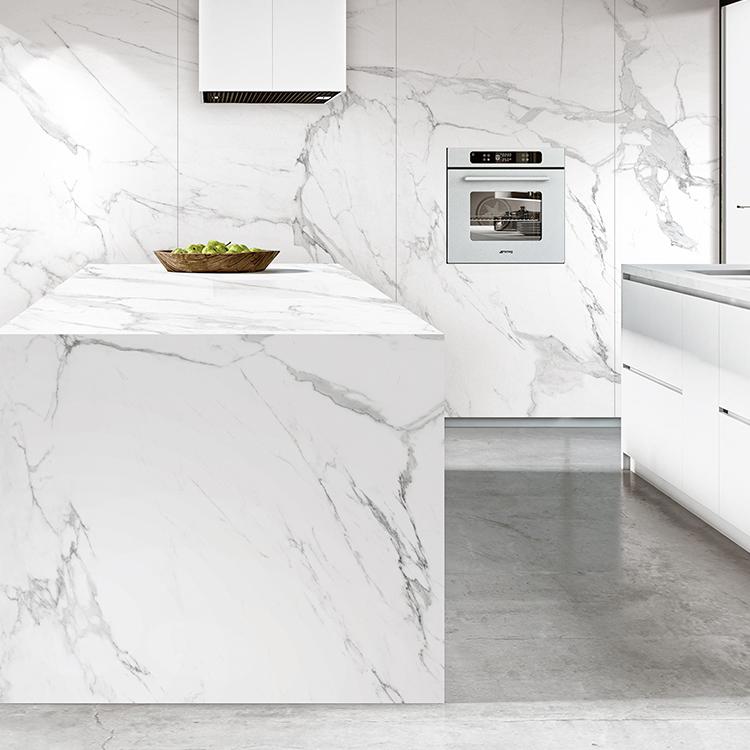 1200 2400 mm big porcelain calacatta slim slabs white marble floor slabs large format thin porcelain tiles view large format calacatta porcelain tile