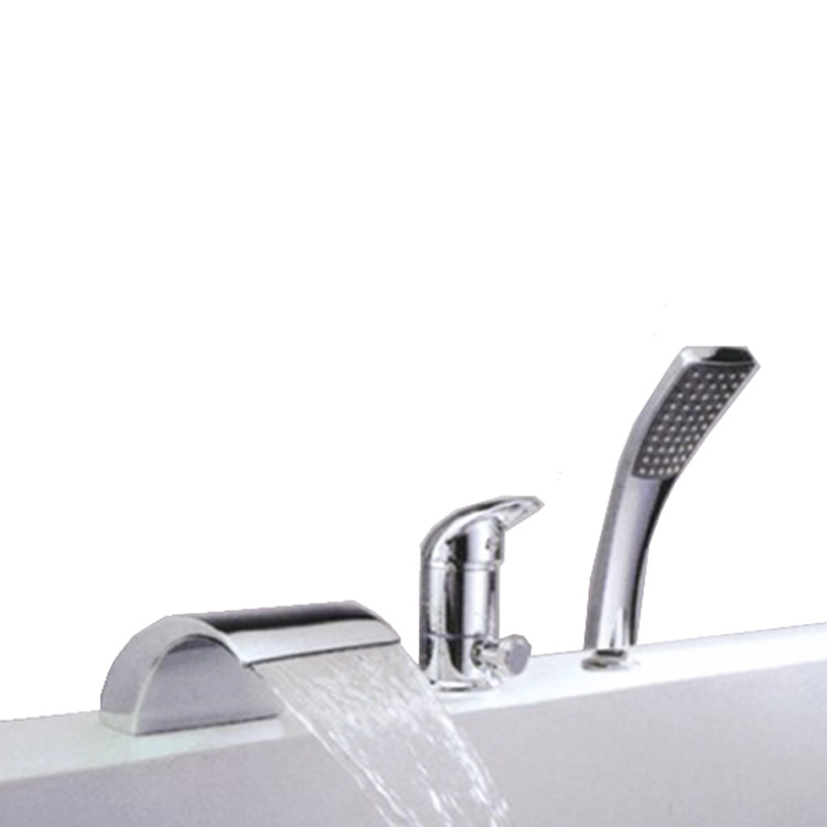 3 holes acceptable price bathtub shower faucet with shower hose waterfall mixer tap buy waterfall mixer tap waterfall bathtub mixer automatic