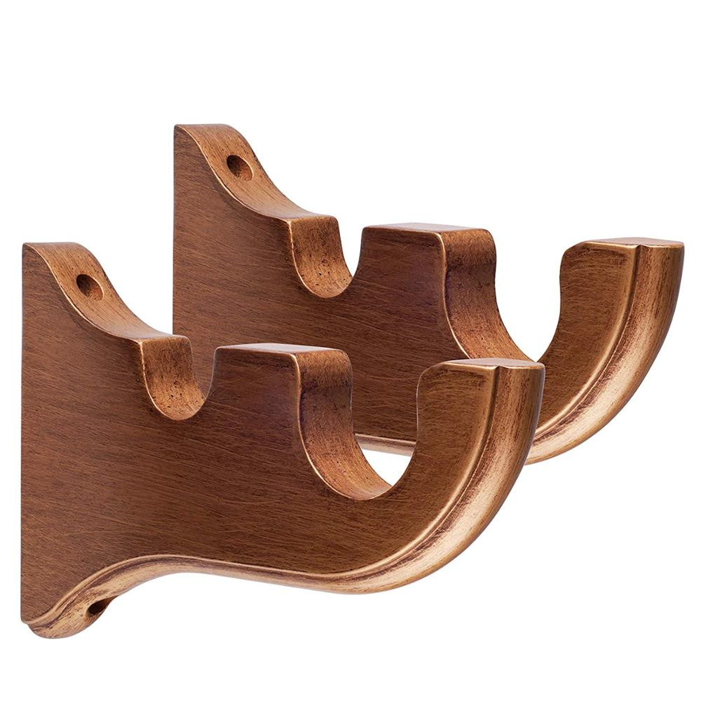 double rideaux muraux en bois de 50mm 1 piece vente en gros buy doubles supports de rideau doubles supports de rideau supports de mur de tringle a