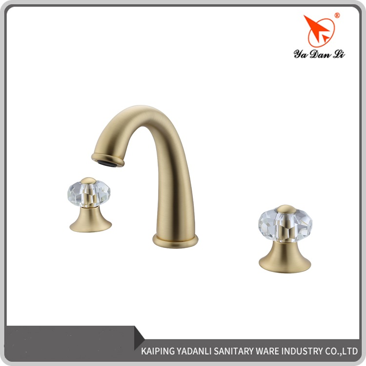 hot sale roman tub trim brushed gold widespread 2 handle bathroom faucet with crystal handle buy brushed gold widespread bathroom faucet brushed