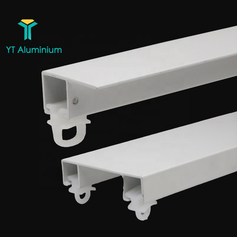 heavy duty aluminum profile wave curtain track champagne arch window ceiling mount fancy cubicle side guide track for curtains buy side guide
