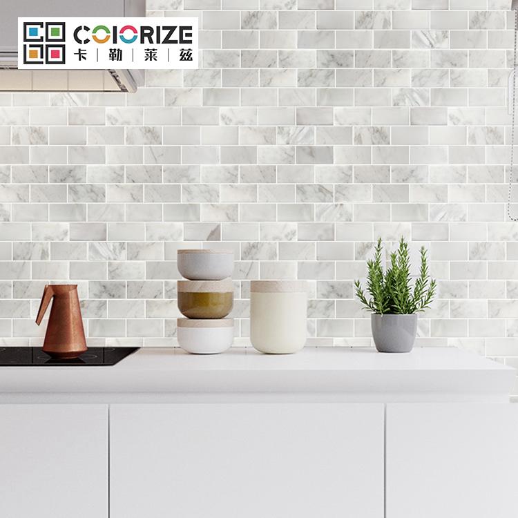 kitchen backsplash polished china white marble subway marble mosaic tile calacatta gold marble subway floor wall mosaic tile buy calacatta gold