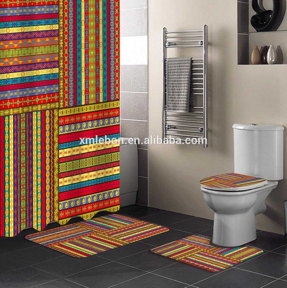 professional bath mat 4pcs bathroom set bathroom curtain rug set made in china buy bath mat 4pcs bathroom set bathroom curtain rug set afro shower