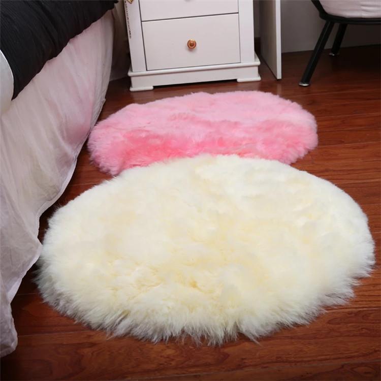 2019 2ft diametre blanc tapis rond en peluche fausse fourrure faux tapis en peau de mouton tapis buy tapis en fausse fourrure tapis en fourrure