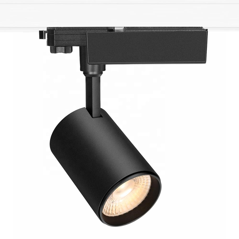 25w high end indoor commercial color changing instore cob led track lighting zoomable and dimmable track light buy led track light track light led led track lights product on alibaba com